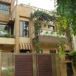 Front facade, Sushant lok, residence